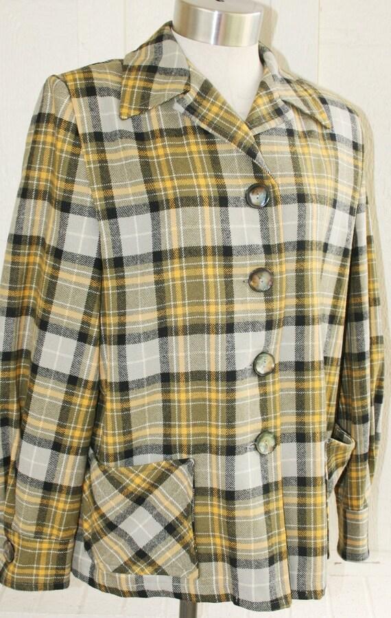 Pendleton 49er Jacket - Yellow Gray Charcoal - Plaid