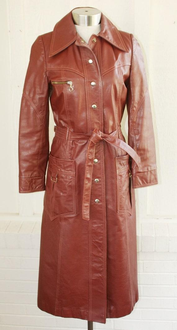 Super Fly Secret Fashion Spy - Leather Trench - Circa 1970s