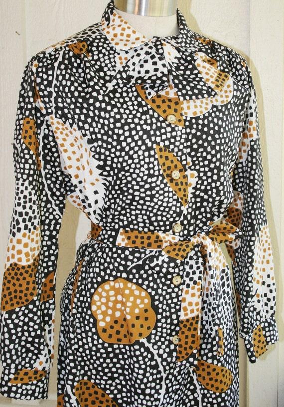 Intellectual Badass -  Circa 70's - Shirt Dress - Plus Size Vintage