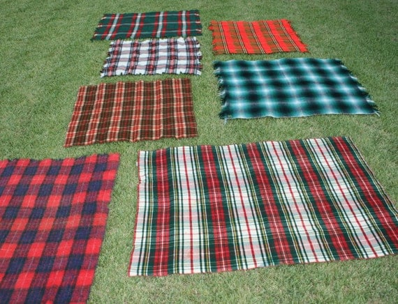 Puddles and Puddles of Plaid - 1 - Brown and Forest Green - Wool Plaid Trow