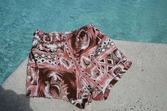 For Your Little Guy Surfer Dude - Boys Hawaiian Swim Trunks - Board Shorts