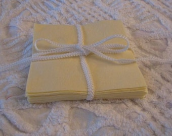 Set of 24 Yellow Flannel 6 inch Rotary Cut Squares for Quilts or Crafts