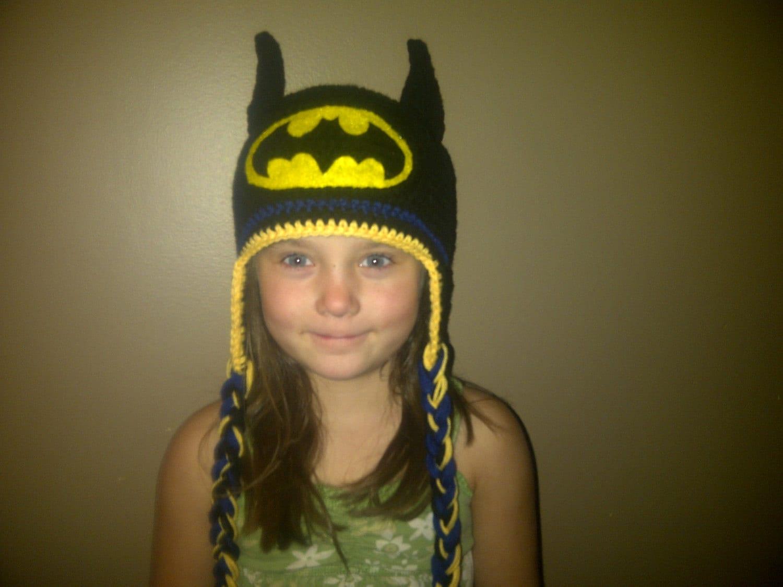 Free Crochet Pattern For Infant Batman Hat : Batman Hat Crocheted in Sizes Newborn to by CrochetByJulianne