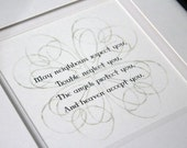 Irish Blessing or Marriage Prayer - choice of 9 verses, or choose your own - Framed Print Picture - Double Matted Black Frame