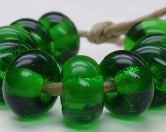 10 Spacer Beads - Handmade Lampwork - S 14