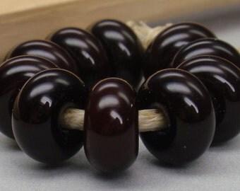 10 Spacer Beads - Handmade Lampwork - S 79