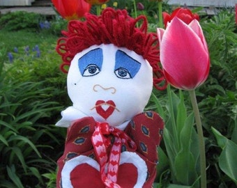 Queen of Hearts Hand Puppet from Alice in Wonderland/Storybook /Fairy Tale Character Puppet