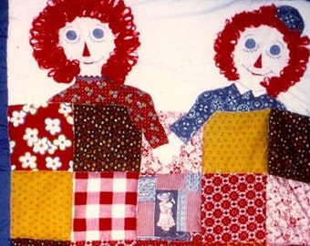 Custom Baby Quilt - Raggedy Anne and Andy