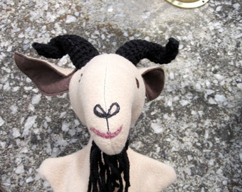 Old Billy Goat Gruff Hand Puppet- One of a Set/ Goat Puppet/Billy Goat
