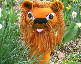 Lion Hand Puppet - Cowardly Lion from Wizard of Oz