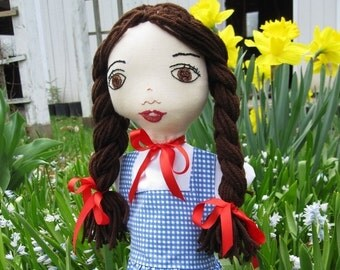 Hand Puppet - Dorothy from the Wizard of Oz - Dorothy- Girl in Blue Dress- Child Friendly Toy