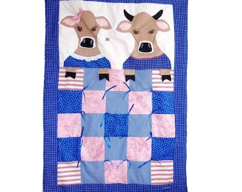 Custom Baby Quilt - of Cows (or Animal of Choice)