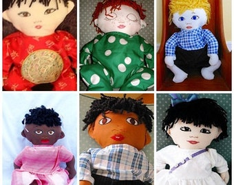 Custom Baby Rag Doll - Gender and Ethnicity of Choice -with 2 Outfits