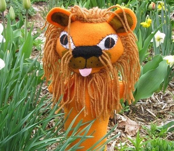 Lion Hand Puppet - Cowardly Lion from Wizard of Oz- Golden Lion - King  Lion