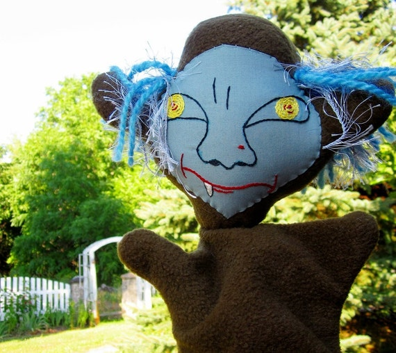 Troll Hand Puppet of 3 Billy Goats Gruff/ Monster Puppet/ Scary Fairytale Character Puppet