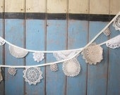 Vintage Doily Bunting, 3m long from Bunting Boutique.