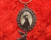 DEPARTURE gothic victorian big eye necklace pendant with chain NINA FRIDAY