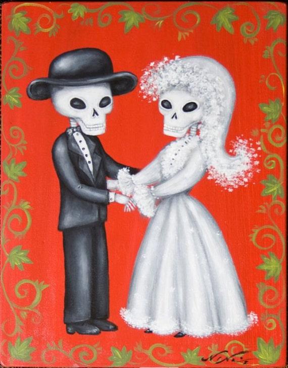 Day Of The Dead Dia De Los Muertos Wedding Bride And Groom