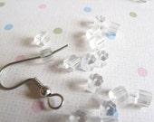 100 Clear Plastic Rubber French Hook Earring Backs