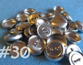 50 Covered Buttons - 3/4 inch - Size 30 wire backs/loop backs covered buttons notion supplies diy refill