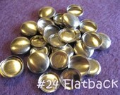 200 Cover Buttons FLAT BACKS - 5/8 inch - Size 24  flat backs no loops covered buttons notion supplies diy refill