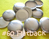 50 Covered Buttons FLAT BACKS - 1 1/2 inches - Size 60  flat backs no loops covered buttons notion supplies diy refill