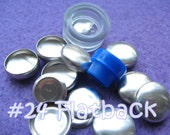 Cover Button Kit FLAT BACKS - 5/8 inch - Size 24 starter kit tool and no loop buttons diy notion supplies rubber hand press non machinery