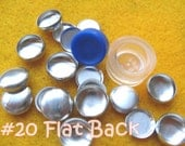 Cover Button Kit FLAT BACKS - 1/2 inch - Size 20 starter kit tool and no loop buttons diy notion supplies rubber hand press non machinery