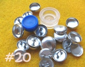 Cover Button Kit - 1/2 inch - Size 20 starter kit tool loop back buttons diy notion supplies rubber hand press non machinery