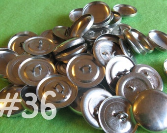 25 Cover Buttons - 7/8 inch - Size 36 wire backs/loop backs covered buttons notion supplies diy refill