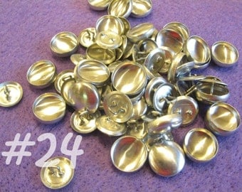 50 Cover Buttons - 5/8 inch - Size 24 wire backs/loop backs covered buttons notion supplies diy refill