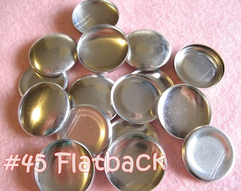 25 Covered Buttons FLAT BACKS - 1 1/8 inches - Size 45  flat backs no loops covered buttons notion supplies diy refill