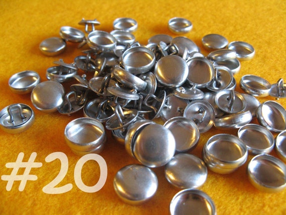 Sale - 200 Cover Buttons - 1/2 inch - Size 20 wire backs/loop backs covered buttons notion supplies diy refill