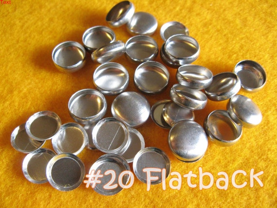 25 Cover Buttons FLAT BACKS - 1/2 inch - Size 20 flat backs no loops covered buttons notion supplies diy refill