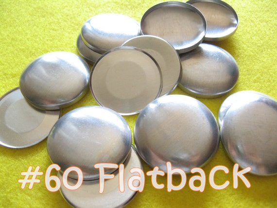 12 Covered Buttons FLAT BACKS - 1 1/2 inches - Size 60  flat backs no loops covered buttons notion supplies diy refill