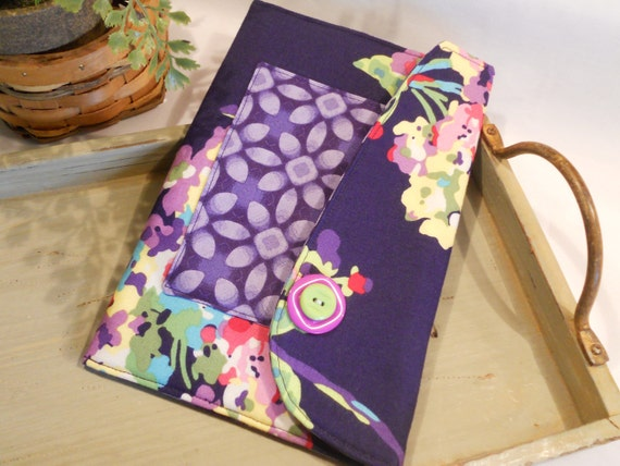 """E-Reader Envelope in """"Water Bouquet"""" by Amy Butler...Holds the Kindle and the Kindle Fire"""