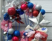 4th of July, Red, White and Blue Wreath