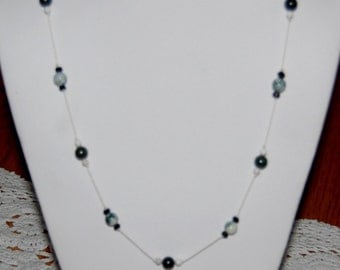 Tree Agate & Jade Necklace