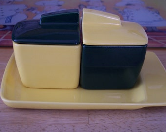 Franciscan Toastmaster Jam Set with Toast Plate