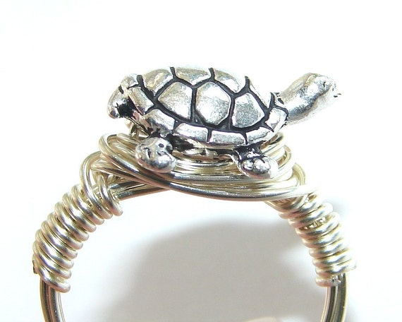 TURTLE RING wire wrapped