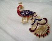 Peacock Brooch.