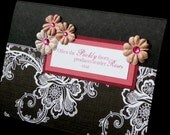 Black and White with Dusty Pink and Mocha Pink Flowers with quote