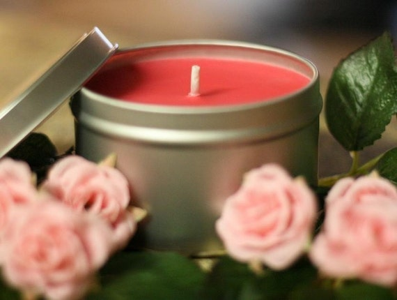 8oz ROSE BOUQUET Soy Candle Travel Tin