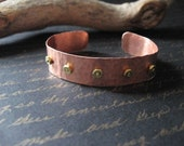 Funk Is In - Copper Cuff with hex nuts
