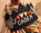 Elephant Banner Birthday Crown