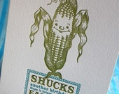 Slightly corny letterpress birthday card