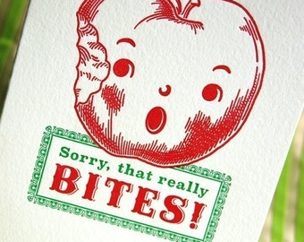 Sorry, that BITES Letterpress greeting card