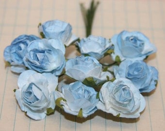 10 Beautiful Blue Paper Roses