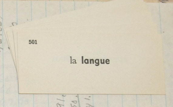 20 Vintage French Flashcards