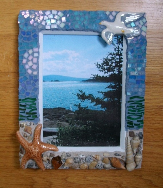 Seashore Mosaic Picture Frame 5 x 7 photo
